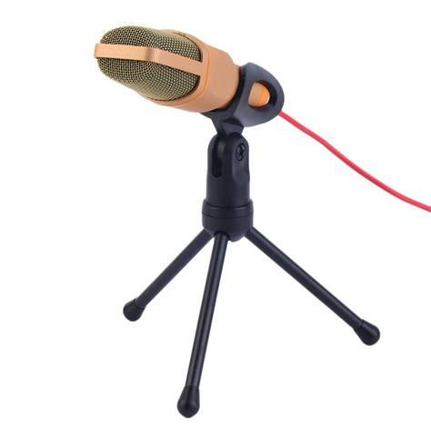 Mikrofon Untuk Suara Rekaman Suara Lebih Jernih Hi Quality Microphon mikrofon kondenser studio dengan stand sf666 white