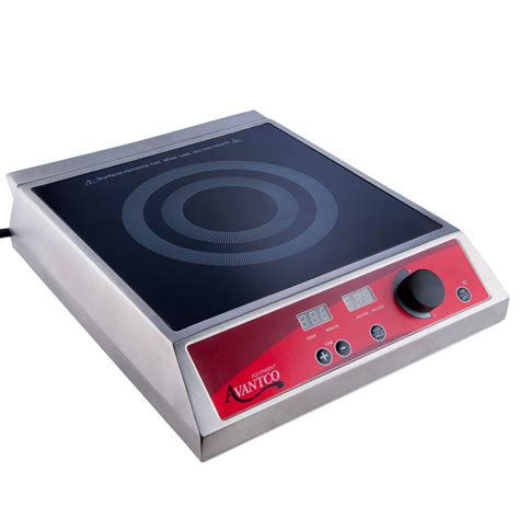 Countertop Induction Cooker by Avantco Ic1800 Countertop Induction Range Cooker 120v