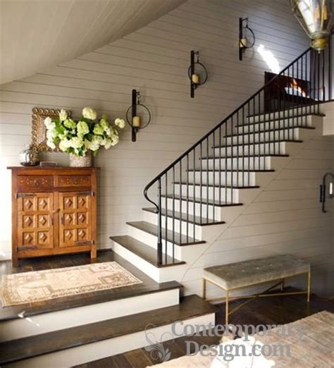 home interior sconces hall stairs and landing decorating ideas