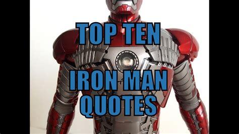 top ten iron man quotes youtube