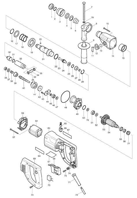 Mesin Bor Makita Rotary Hammer Drill Hr 2445 buy makita hr2445 replacement tool parts makita hr2445 electric rotary hammer parts diagram
