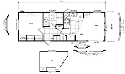 small house plans with loft bedroom caretaker cottage 394 sf 11 4 x 33 4 loft house floor plan stairs to the loft floor