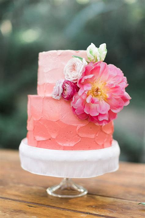 wedding cake of the day pink ombr flower wedding cake 1000 images about gumpaste flowers on pinterest cakes
