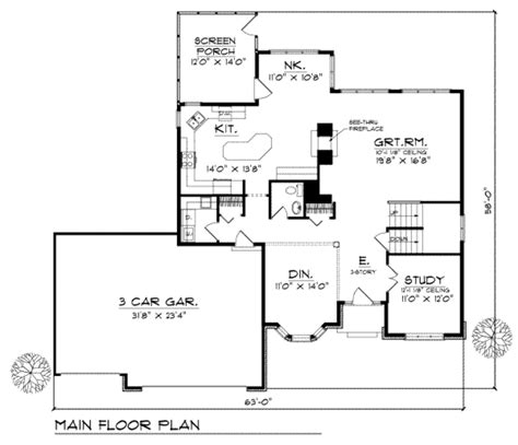 2800 square foot house plans traditional style house plan 4 beds 2 50 baths 2800 sq
