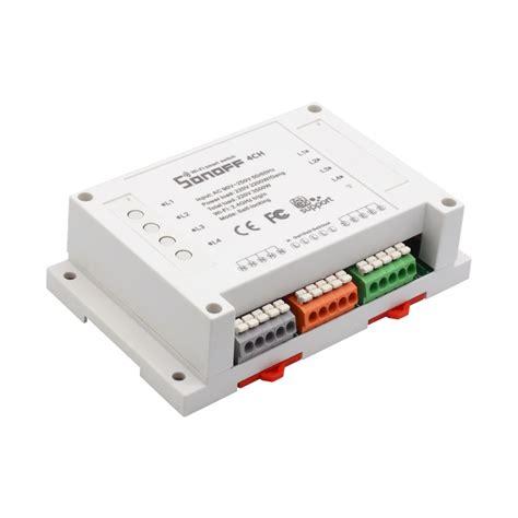 Sonoff Rail Mounting Wifi Smart Switch 4 Channel sonoff 4ch 4 multi wifi light switch itead