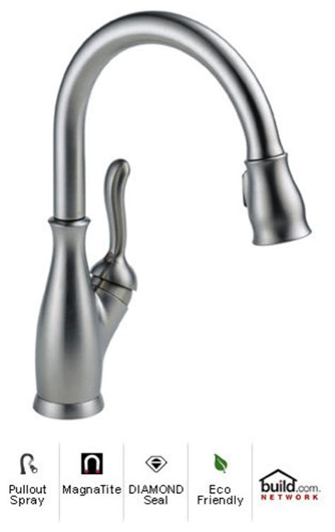 delta 9178 ar dst leland single handle pull down kitchen delta 9178 ar dst arctic stainless leland leland pullout