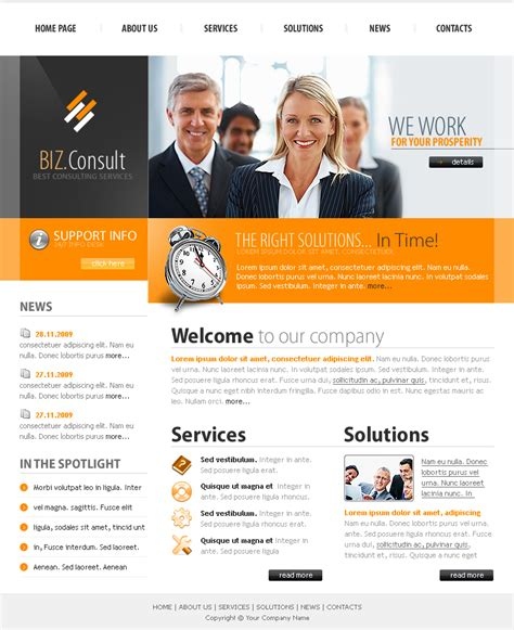 Business Consulting Website Template Business Consulting Website Templates
