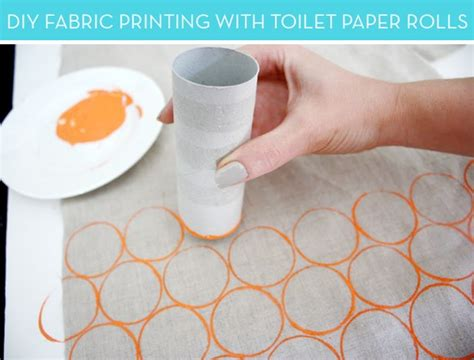 How To Make Toilet Paper At Home - how to create your own printed fabric with toilet paper