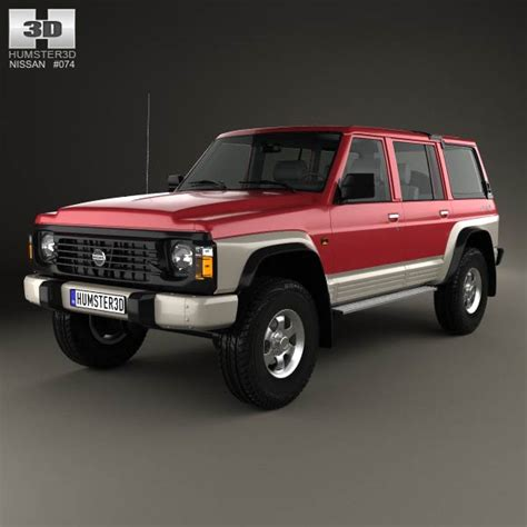 old nissan truck models nissan patrol y60 5 door 1987 3d model from humster3d