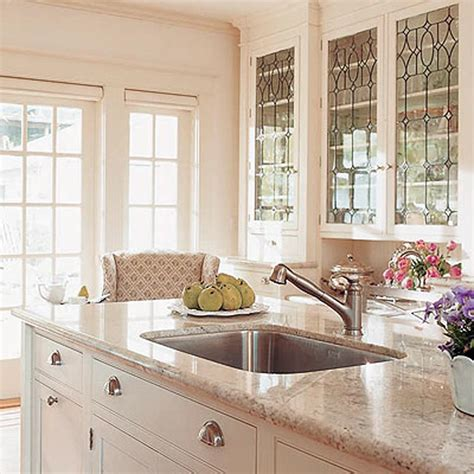 kitchen with glass cabinet doors bright glass front kitchen cabinet doors spotlats