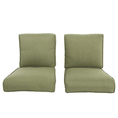 Replacement Patio Chair Cushions Hton Bay Pembrey Replacement Outdoor Chat Chair Cushion 2 Pack Hd14223 The Home Depot