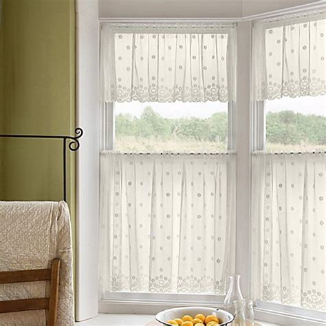 Buy Daisy 30 Inch Window Curtain Tier in Ivory from Bed