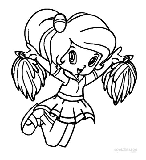 printable cheerleading coloring pages for kids cool2bkids
