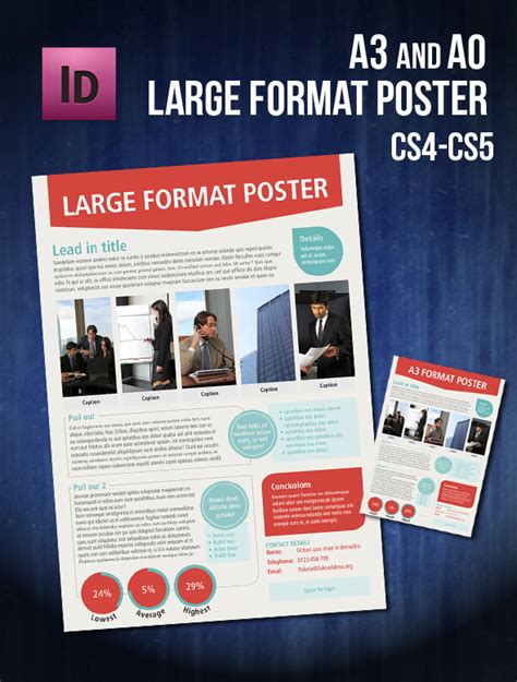 infographic a0 a3 poster indesign template by