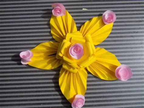 Paper Flower At Home - how to make paper flowers decorations eisly at home step