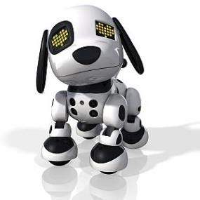 robot puppy zoomer new zoomer zuppies interactive puppy personal robot lights sounds spot ebay
