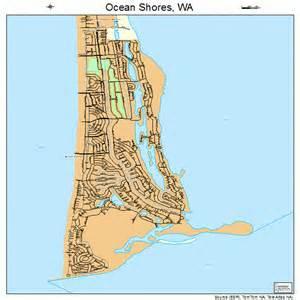Ocean Shores Washington Map ocean shores washington street map 5350570