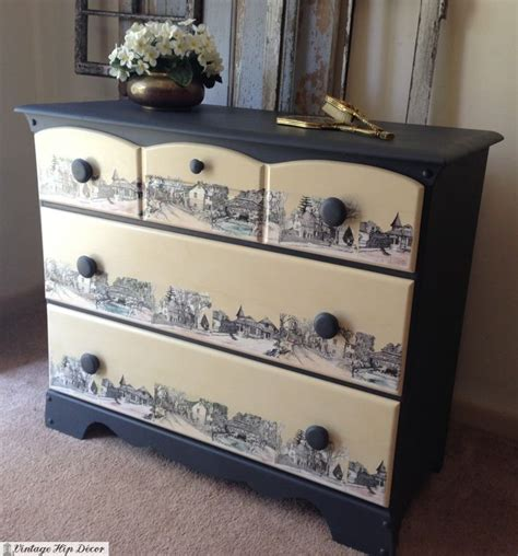 Decoupage Dresser Ideas - 14 best decoupage images on salvaged furniture