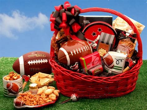gifts for him sports fan football fanatic sports gift basket unique gift ideas