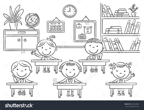 black and white clipart school room clipart black and white clipground