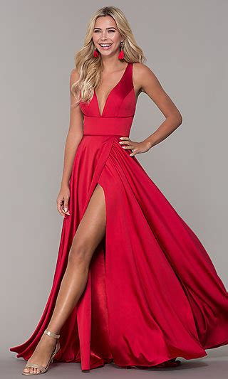 red prom dresses long red formal gowns promgirl