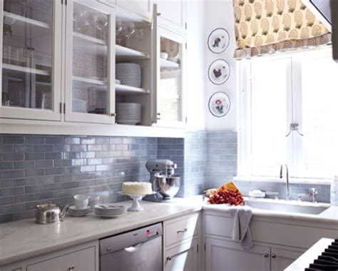kitchen backsplash blue white and grey subway tile designs furnitureteams
