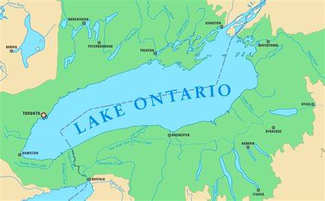 map with cities and rivers map of lake ontario with cities and rivers