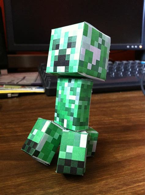 Origami Creeper - pin creeper cubeecraft free papercraft toys ajilbabcom