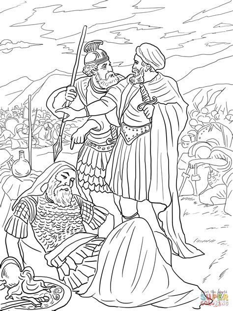 David Spares King Saul Coloring Page Free Printable King Saul Coloring Pages