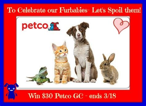 Petco 30 E Gift Card - 30 petco gift card giveaway us canada ends 3 18 mommy s memorandum