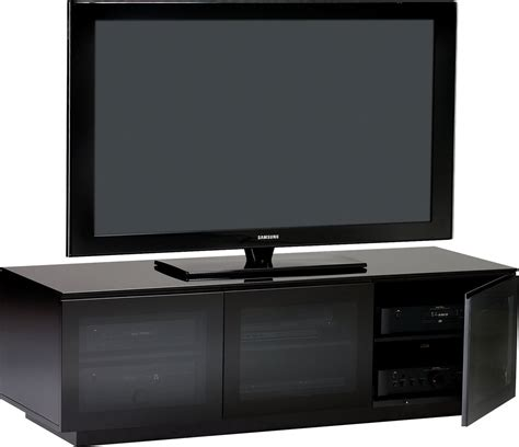 Black Tv Cabinets With Doors Bdi Mirage 8227 Tv Stands