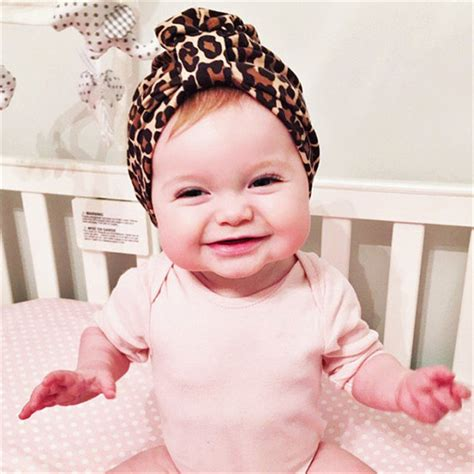 Autumn Baby Hat by New Fashion Winter Autumn Baby Hat Leopard Print Turban