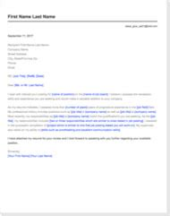 How To Write A Cover Letter 5 Recruiters Tell All Traditional Cover Letter Template