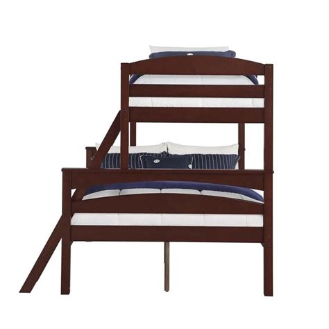 espresso bunk bed twin over full bunk bed in espresso da6940e