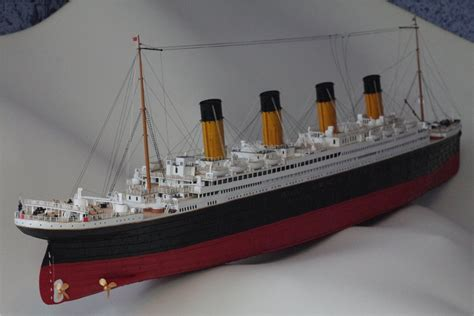 How To Make A Titanic Model Out Of Paper - titanic model fly 153 titanic rms paper model kit ebay
