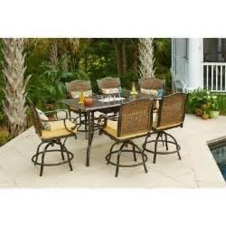 Hampton Bay Woodbury 4 Piece Patio Seating Set Patio Furniture Tranor Enterprises Llc