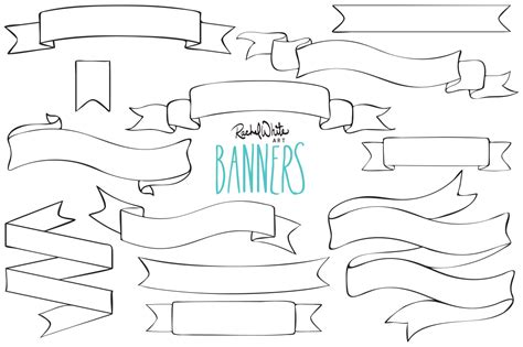 Banner Outline by Banners Vector Png Objects On Creative Market