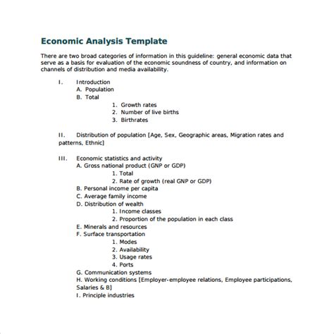 economic analysis template sle pestle analysis template 10 free documents in pdf