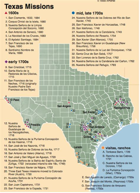 missions in texas map untitled document users humboldt edu