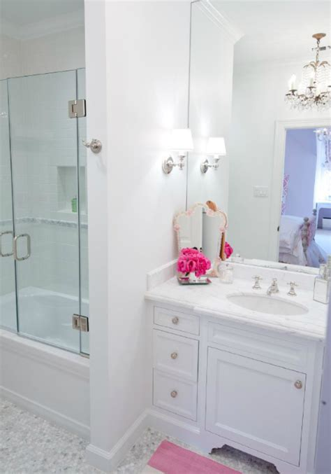 white chicks bathroom white carrara marble hex bathroom floors design ideas