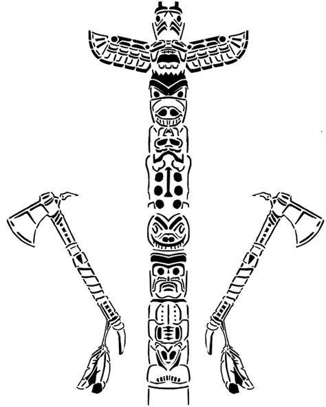 Totem Pole Coloring Pages Printable Totem Pole Coloring Pages Coloring Me by Totem Pole Coloring Pages