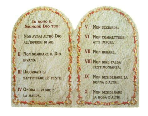 le tavole dei comandamenti dittico tavola 10 comandamenti ricordo per sacramenti