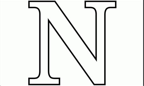 5 letter colors letter n coloring pages coloring home