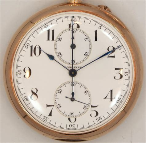 1912 vintage longines 52 mm pin set one button chronograph