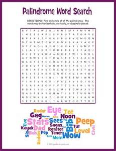 palindromes word search puzzle words the words and the