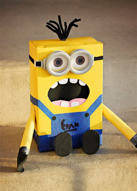 how to make a minion valentines day box 10 classroom collection boxes everyday