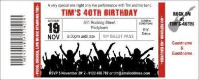 Concert Ticket Invitation Template by Rock Concert Invitation