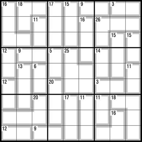 printable killer sudoku puzzles easy printable sudoku fill grid numbers number