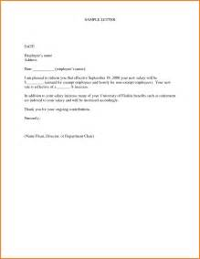 Annual Raise Letter Sle 5 Salary Increase Letter To Employee Sle Simple Salary Slip