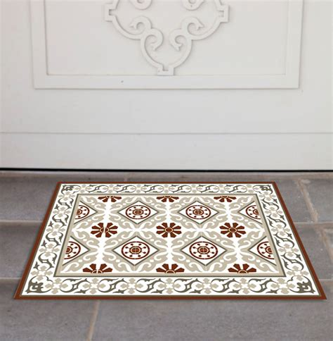 Tile Rug by Free Shipping Tiles Pattern Decorative Pvc Vinyl Mat